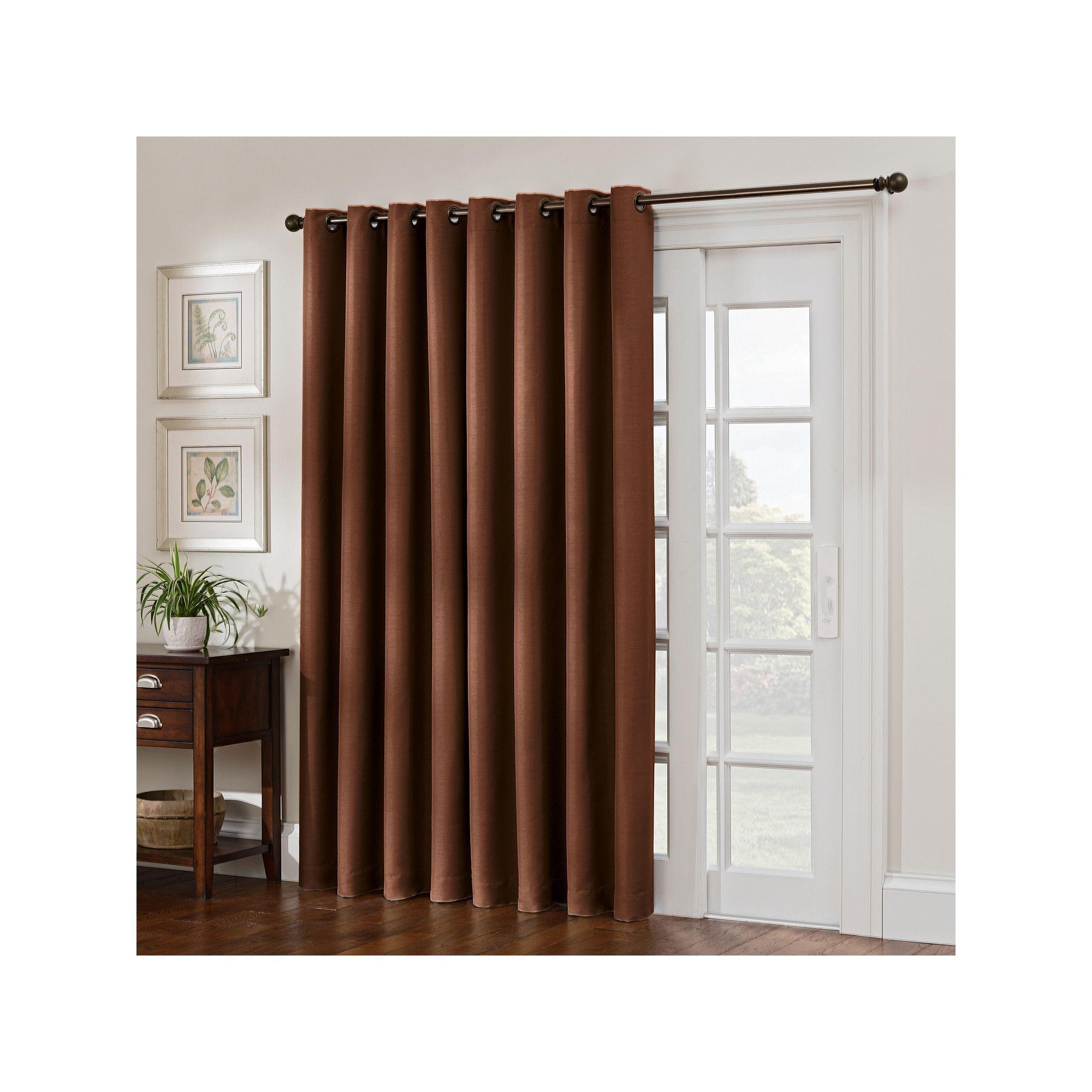 Style domain antique satin patio door curtain white door curtains