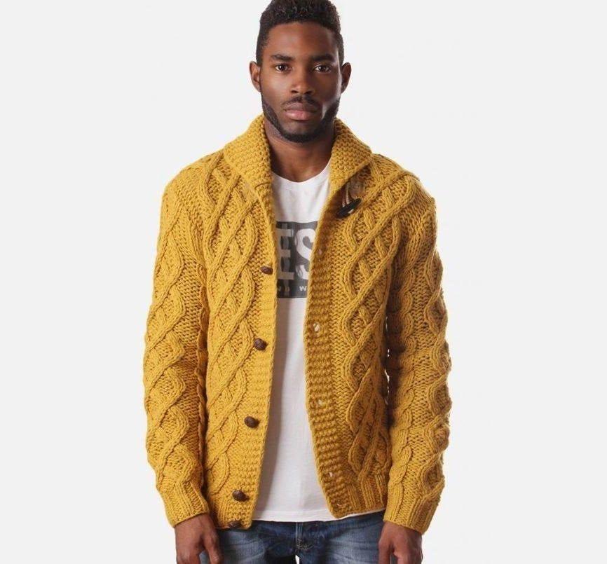 Men S Hand Knitted Cardigan Men S Knitted Coat Etsy In 2021 Knitwear Men Knit Men Men S Knit