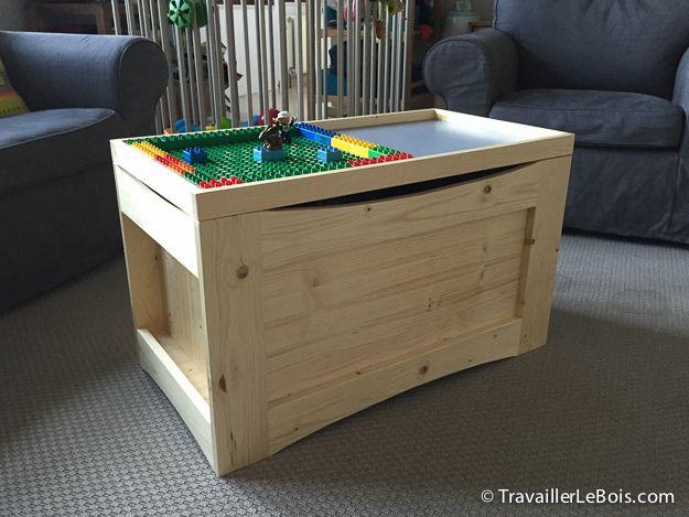 Fabrication d\u0027un coffre à jouets en bois basé sur des plans de Marc