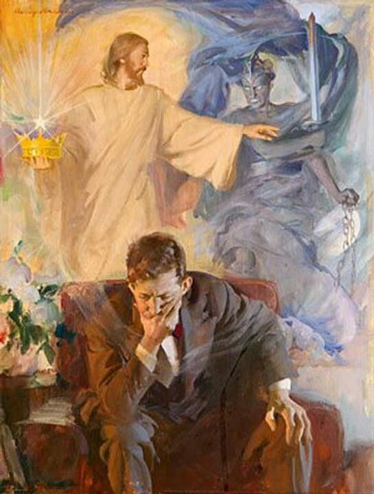 Image result for spiritual warfare painting