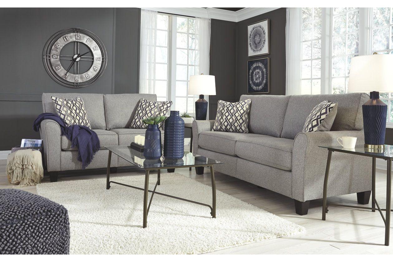 Strehela Sofa And Loveseat Set Ashley Furniture Homestore Sofa And Loveseat Set Living Room Sets Silver Living Room