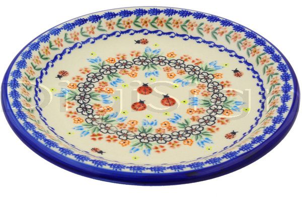 Polish Pottery Plate 11 Fanciful Ladybug Polish Pottery Pottery Plates Dinner Plates
