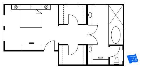 Narrow Master Suite Layout Bathroom With Closet Floor Plans Bedroom Plan
