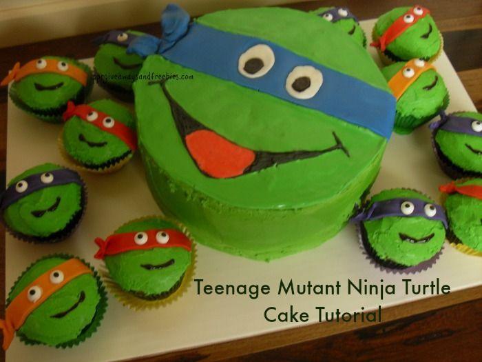 Teenage Mutant Ninja Turtle Cake Cake tutorial Ninja turtles and