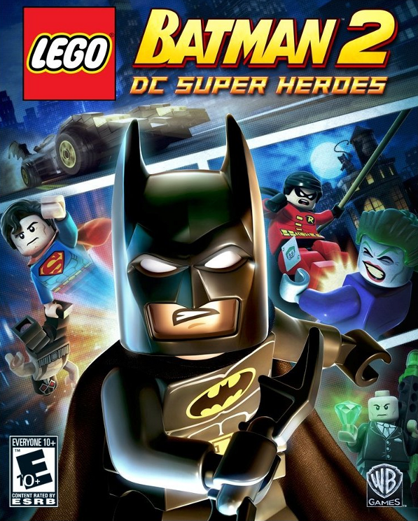 Video Game Lego Batman 2 Dc Super Heroes Lego Video Game Box Art Lego Batman 2 Lego Batman Batman Games For Kids
