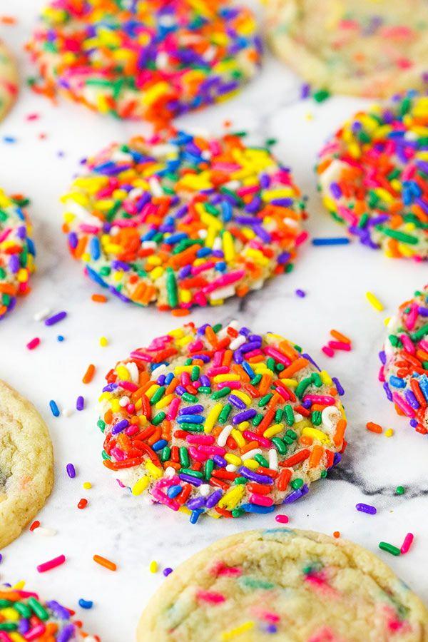 Sprinkle Sugar Cookies   Soft and Chewy Sugar Cookies Recipe