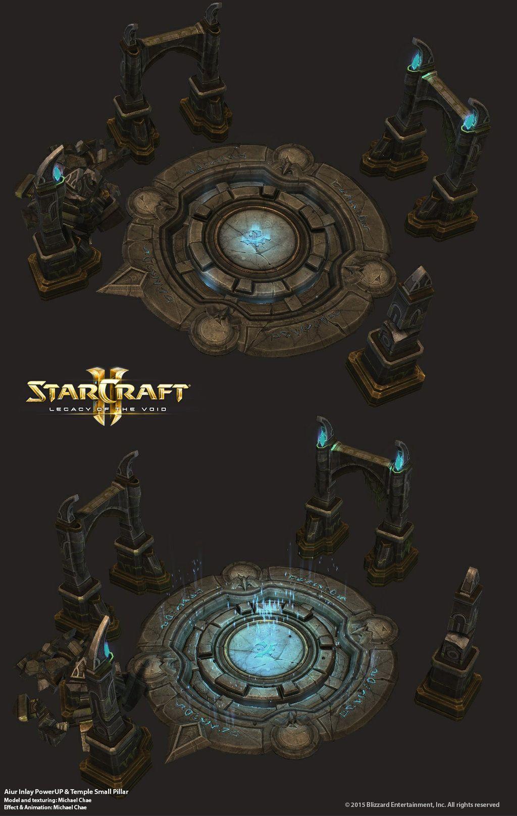 Starcraft2: Aiur Temple Inlay by 3dchae deviantart com on
