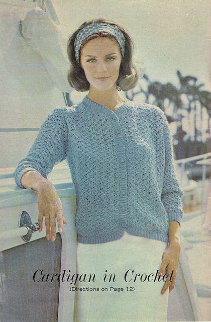 Cardigan In Crochet Pattern By Workbasket Magazine Cardi