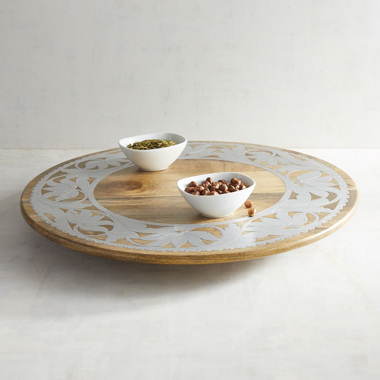 Wood U0026 Metal Lazy Susan