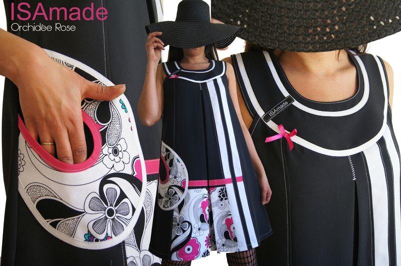 Une Saison Mode Printemps été 2015 sur un air 60's : la robe Graphique et asymétrique bicolore noire Blanche à