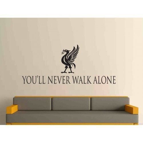 You Ll Never Walk Alone Liverpool Lfc Football Wall Art Decal Large Decor Football Wall Art Decal Wall Art Football Wall