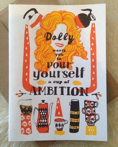 Hello Holiday · Dolly Parton Screen Print Card