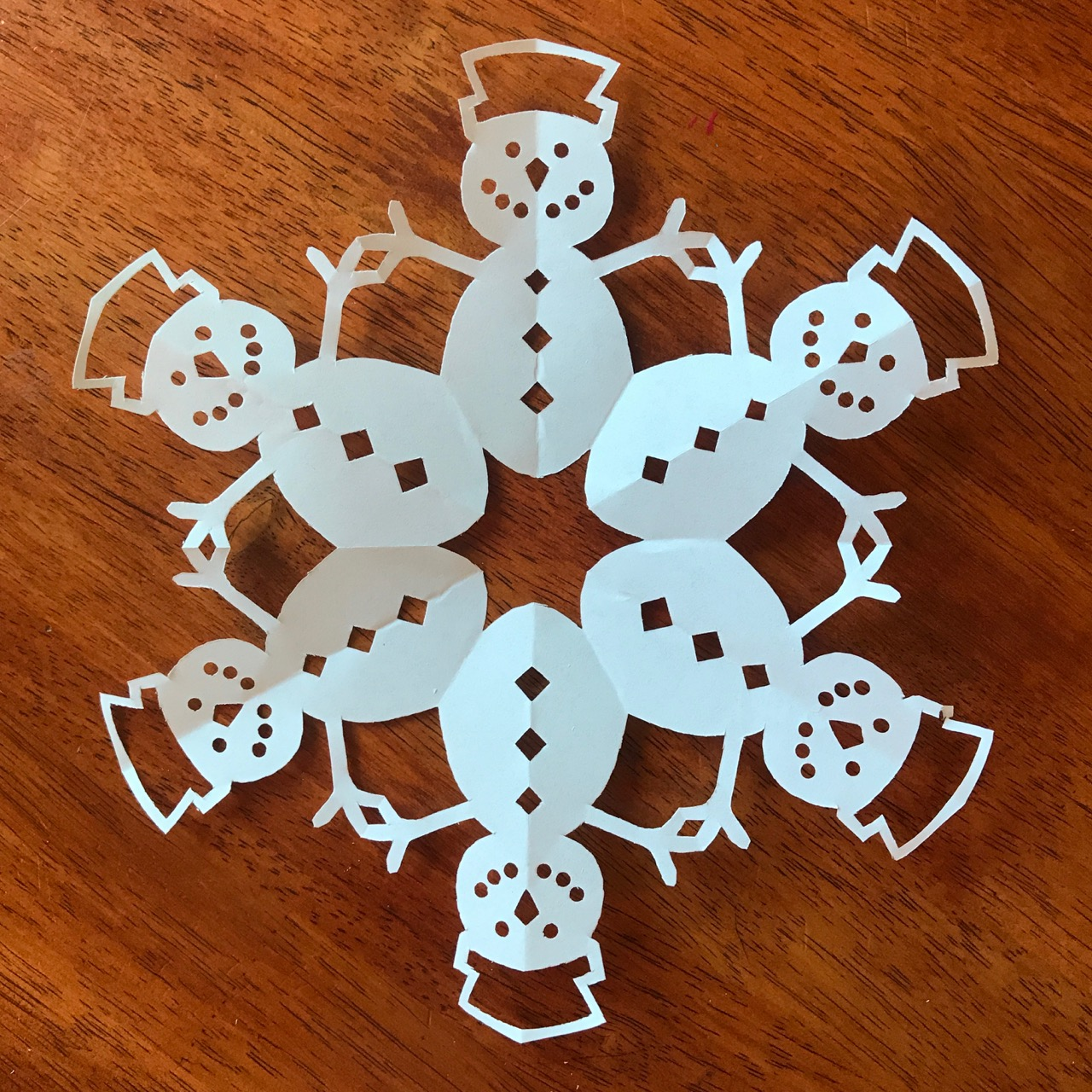 How to make a snowman paper snowflake Diy christmas