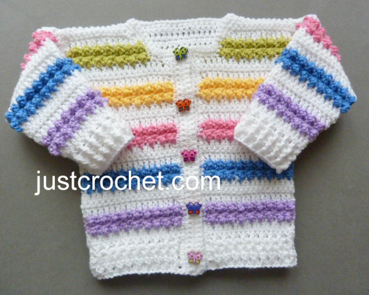 fjc134-Rainbow Cardigan Baby Crochet Pattern | Craftsy | Crochet ...