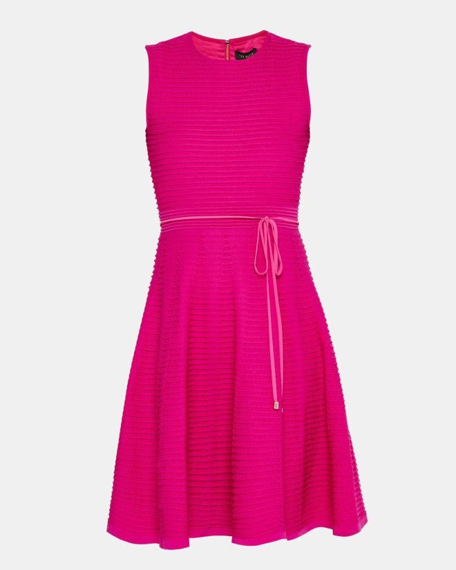 Ottoman ribbed dress - Deep Pink   Dresses   Ted Baker   Designers ...