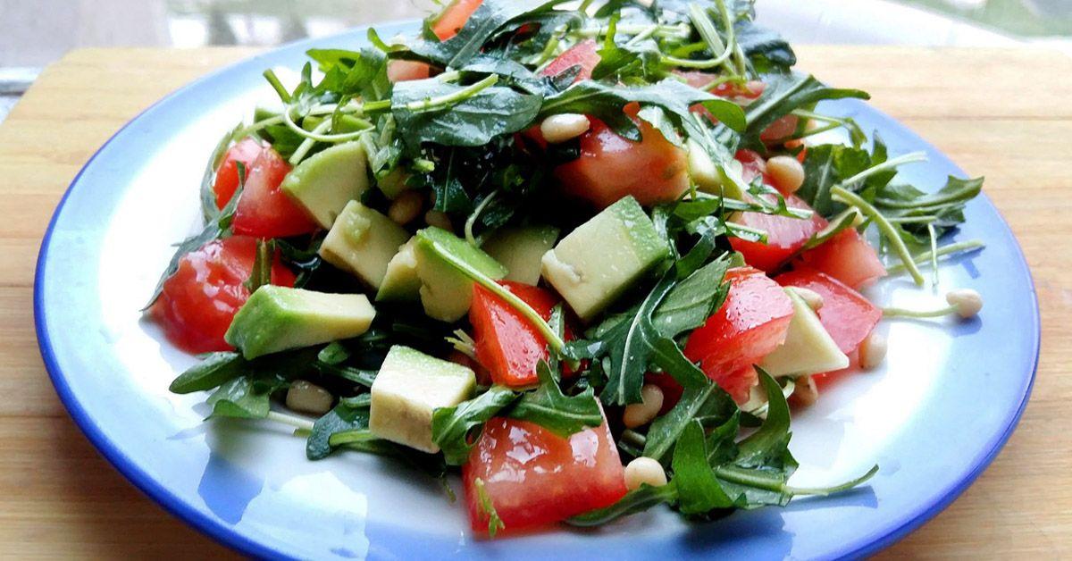 Салат огурцы с помидорами для похудения