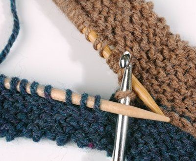 Hook Knitting Patterns : Seaming with a crochet hook l knits knitting stitches