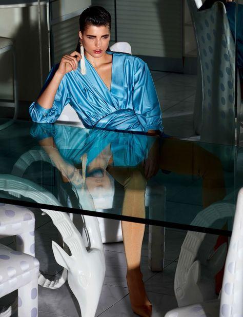 Julia Van Os in Vogue Japan April 2017 by Camilla Akrans —Monaco Calling