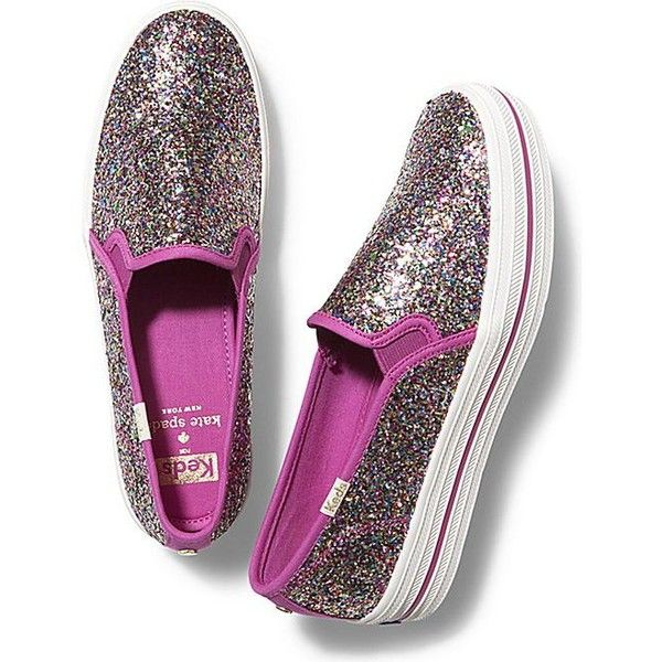 1819f63c9 Keds x kate spade new york Champion Triple Decker Glitter ($95) ❤ liked on  Polyvore featuring shoes, sneakers, multi pink, slipon shoes, keds  footwear, ...