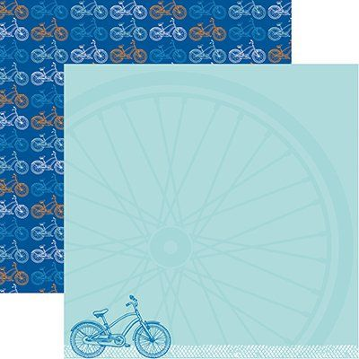 Reminisce - 12 x 12 Double Sided Paper - Biking