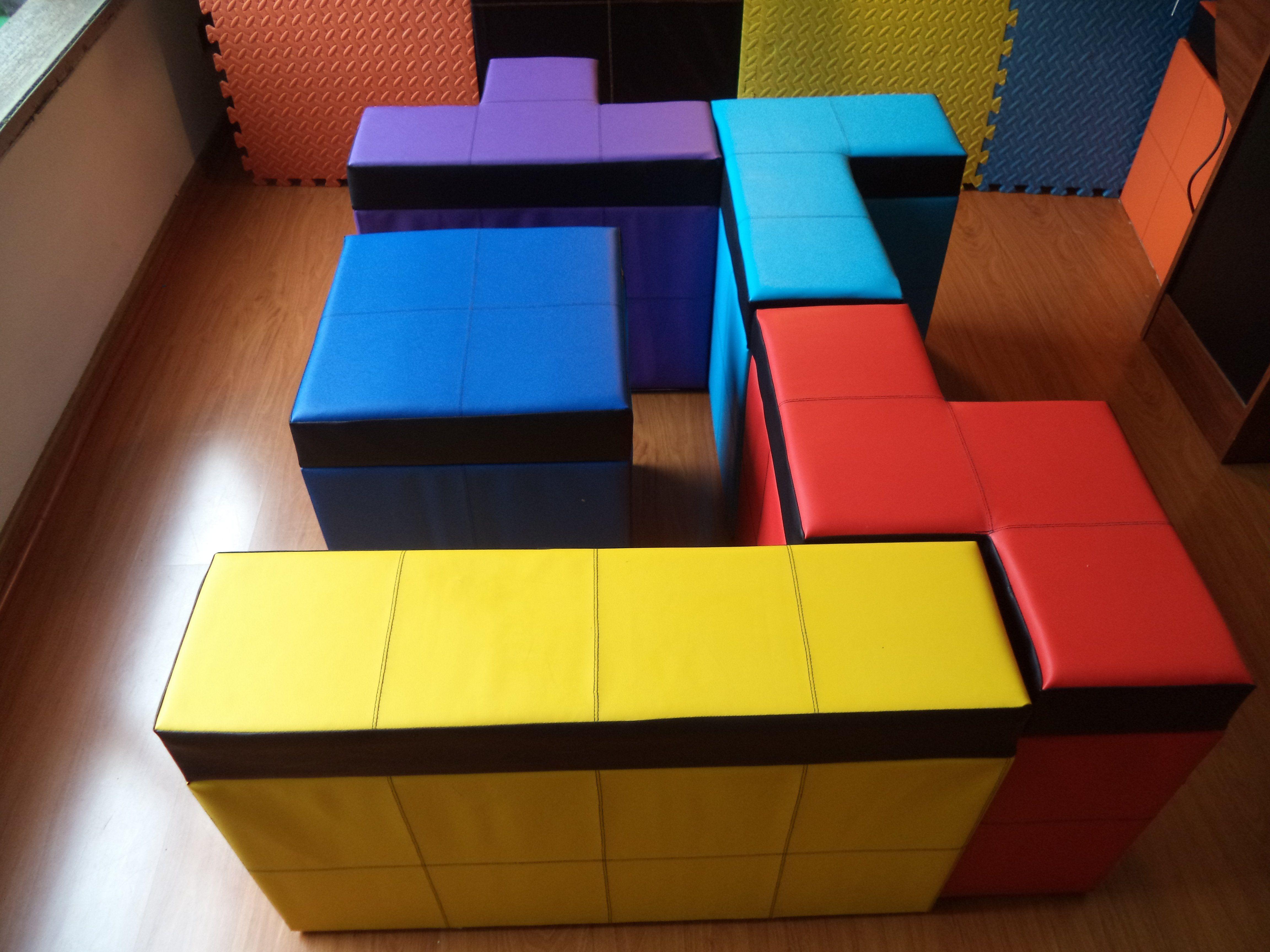 Tetris Storage Benches Panca Contenitore Pouf E Forme