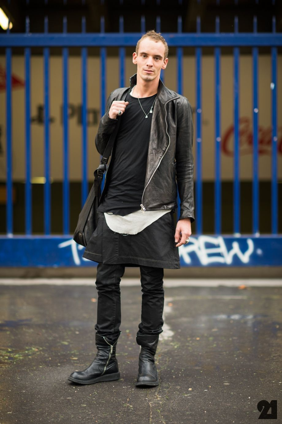 Man-Wearing-All-Black-PFW | Wear Darkness | Pinterest | Men wear ...