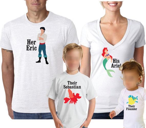 39392ff2c Disney Shirt, Little Mermaid Shirt, Family Shirt, Couples Shirt, Ariel and  Eric Shirts, Disney Famil