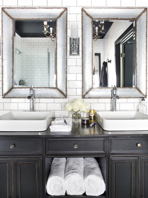 Timeless Black And White Master Bathroom Makeover Black White Master Bathroom White Master Bathroom Black Vanity Bathroom