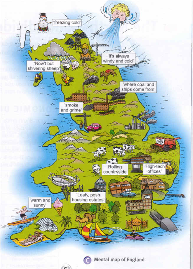 Geography Map Of England.Mental Map Of England Great Britain Travel Pinterest Geography