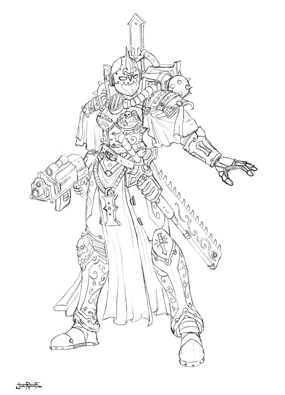 Warhammer 40k Female Sister Of Battle Captain Concept For