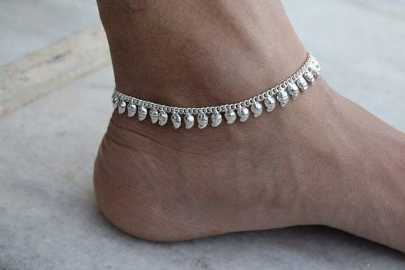 32d1e025f Silver Anklet Anklet Foot chain Indian Anklet Ankle by avicraft ...