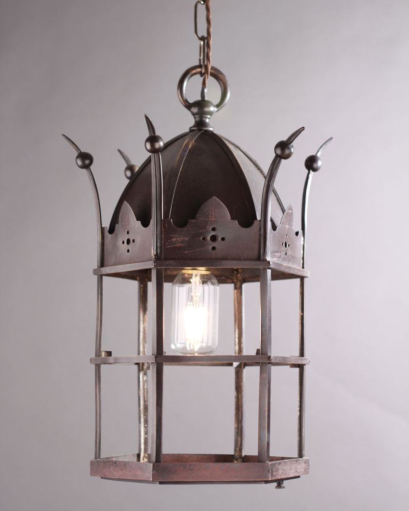 Bronze gothic lantern circa 1900 vintage lampshades light fittings light fixtures antique lighting