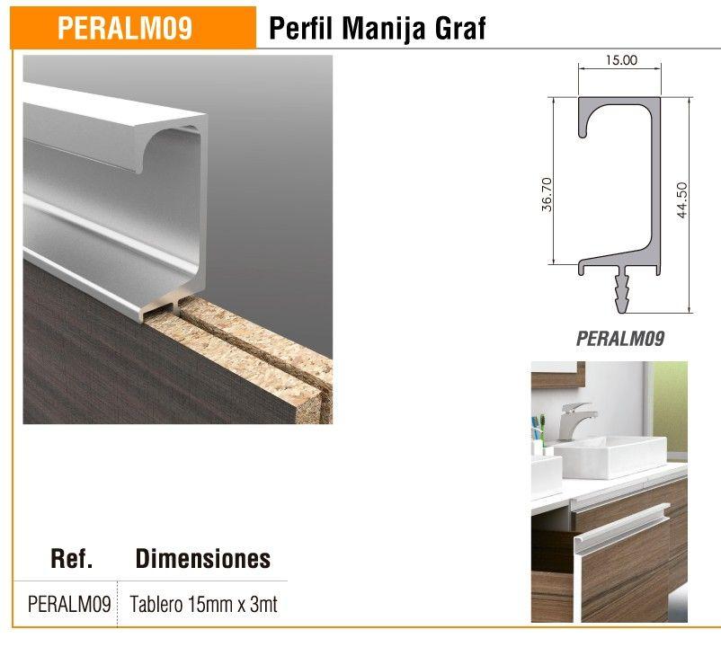 PERFIL MANIJA 09 PARA TABLERO DE 15 MM - Madecentro | COCINA ...