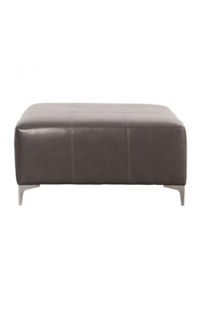 Fabulous Large Oversized Brown Leather Ottoman Teri Sasha Block Andrewgaddart Wooden Chair Designs For Living Room Andrewgaddartcom
