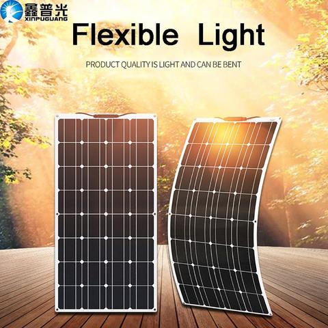 Mpn 100w 16vbrand Xinpuguangflexible Solar Panel 100w 12v Battery Charger Kit Monocrystalline So In 2020 Solar Power Panels Flexible Solar Panels Solar Energy Panels