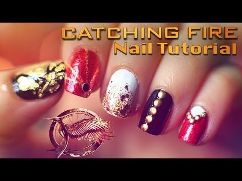 Catching Fire Nail Tutorial With Evelina Barry The Hunger Games