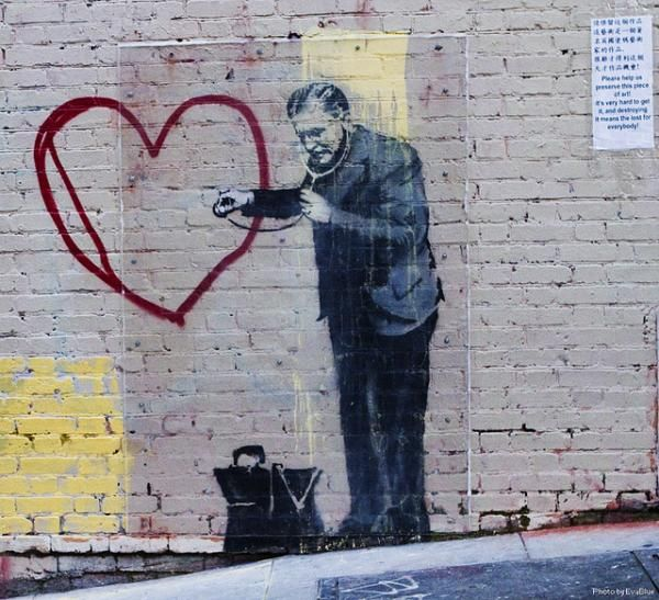 Photo A Very Contemporary Use Of The Heart Shape By Famous Graffiti