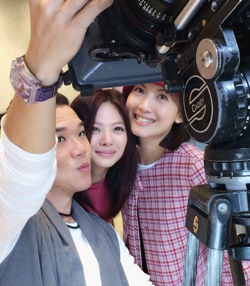 Jeanette Aw with her co acting team. New chemistry to blend into the serial show. #jeanetteaw