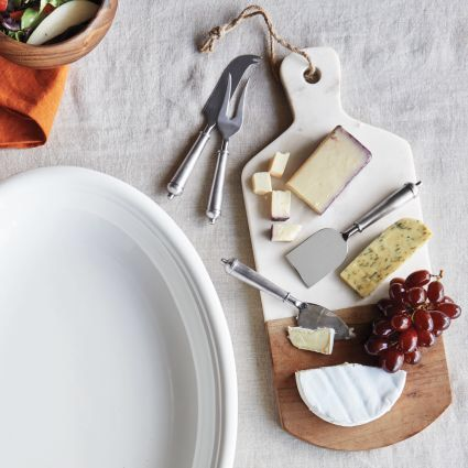 Sur La Table Marble And Acacia Wood Cheese Paddle