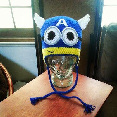 crochet Captain America #Minion Beanie I made for a gift. | gorro ...