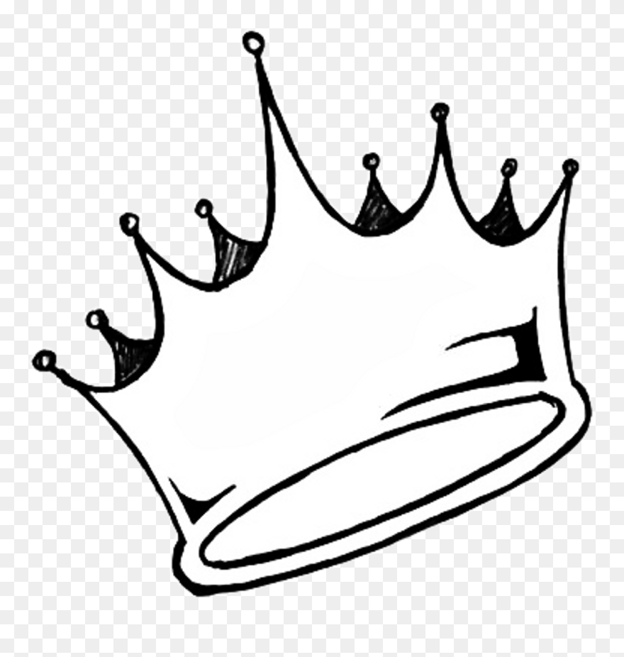 Transparent Crown Tumblr Sticker Aesthetic White Queen King Crown Clipart Black And White Png Download 5193 Crown Drawing Crown Tumblr King Crown Drawing