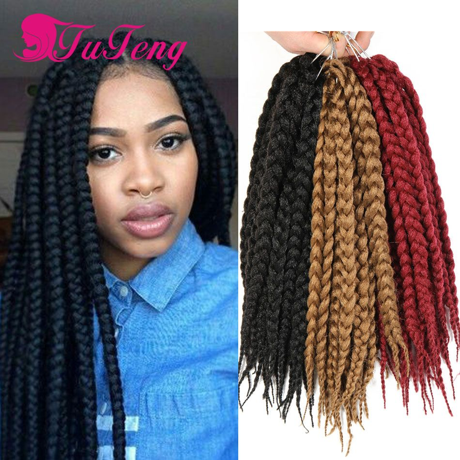 Top Crochet Braids Box Hair Twist Xpression Braiding Synthetic Havana Mambo Extensions