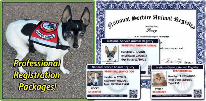 legitimate service dog and emotional support animal registration ...