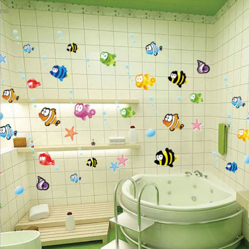 Tile Decorations Unique Hot Sale Waterproof Bathroom Tile Decor Sticker Cute Colorful Design Inspiration