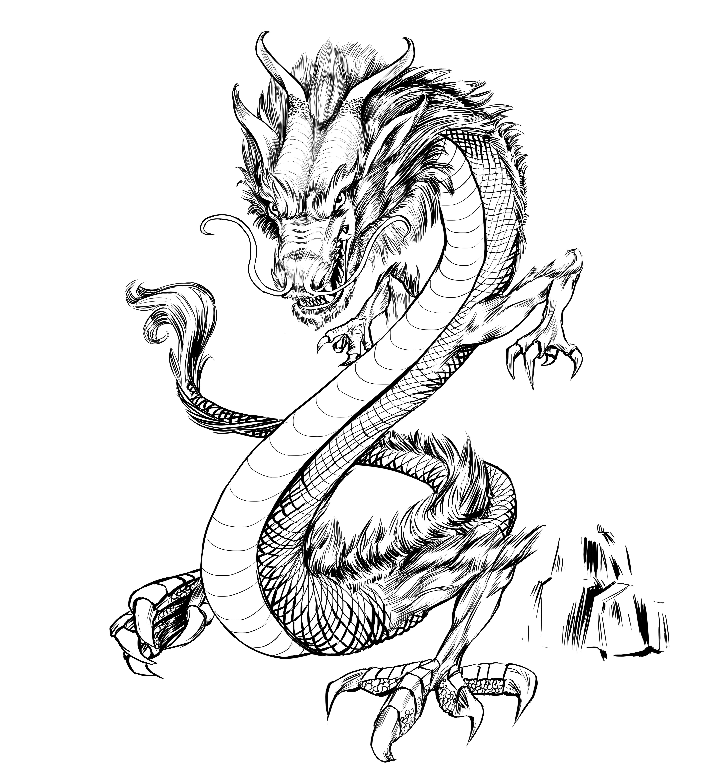приятнее японский дракон картинки легкие можно