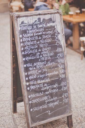Pintxos Menu in San Sebastian Spain