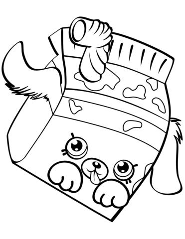 Milk Bud Shopkin Malarbok Shopkin Coloring Pages Shopkins Colouring Pages Cute Coloring Pages