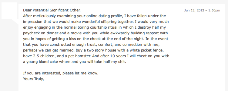 Funny lines on dating sites