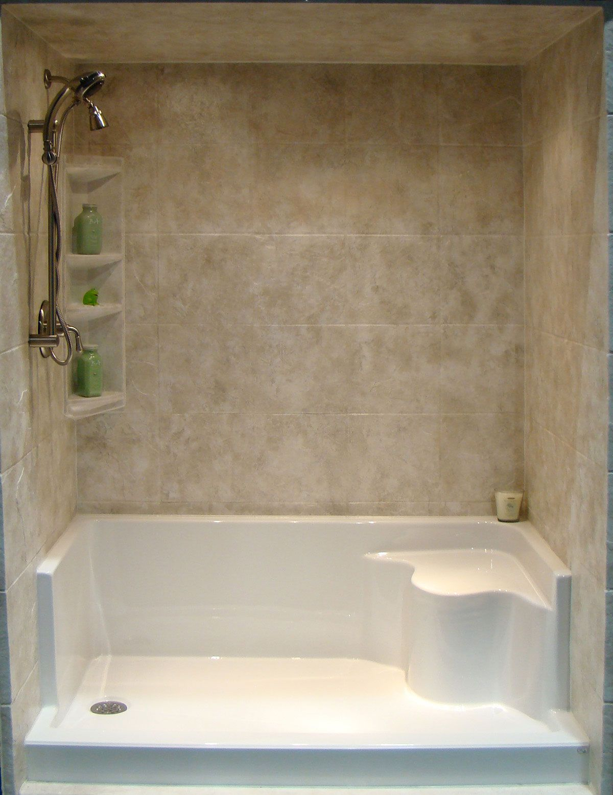 Tub an shower conversion ideas bathtub refinishing tub to shower conversions rebath Bathroom remodel with walk in tub
