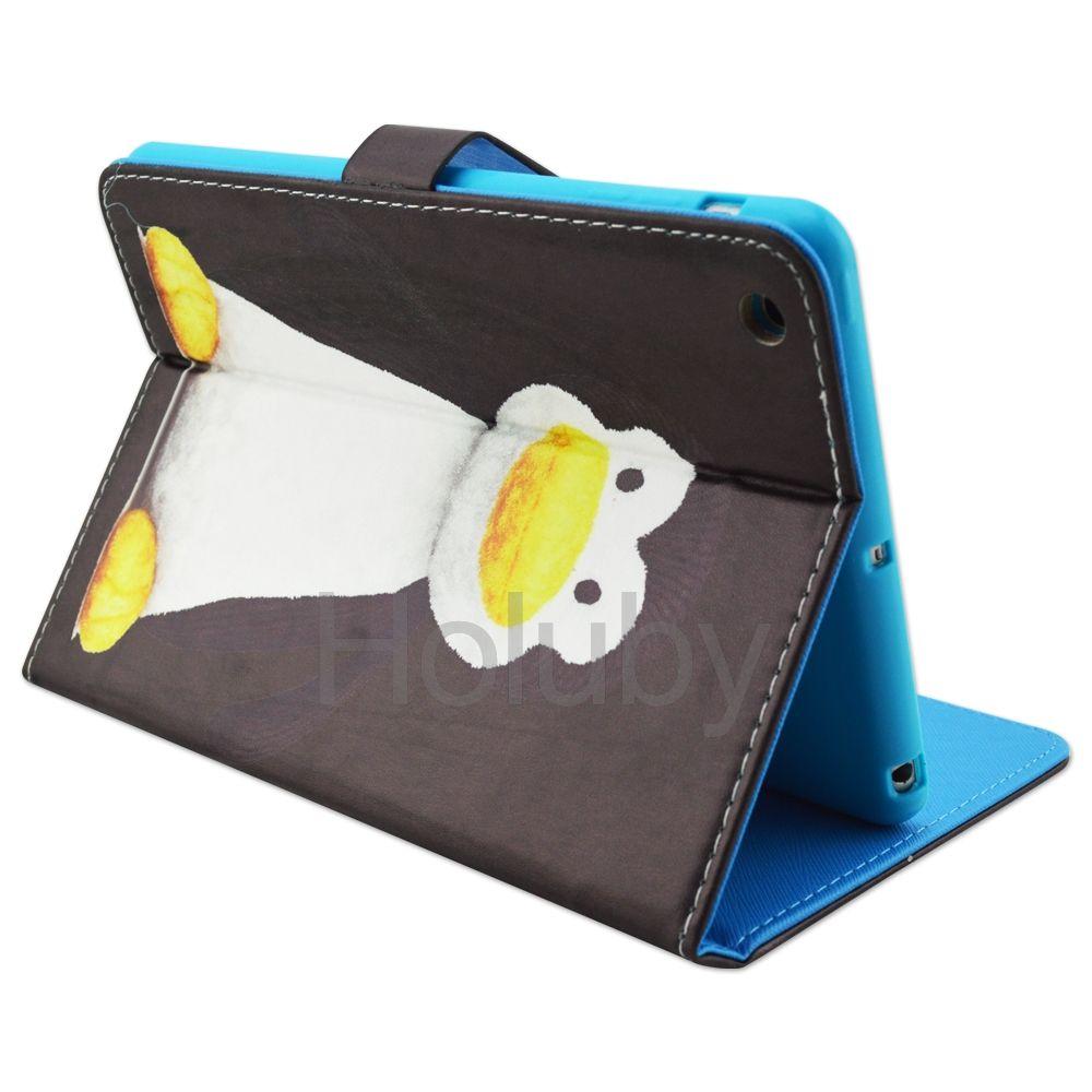 The Penguins Magnetic Side Flip Stand TPU+ PU Leather Case for iPad Mini 3 iPad Mini 2 Retina iPad Mini